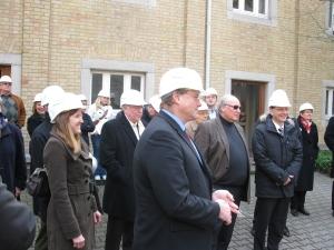 Im Zementwerk mit Bundesminister Dirk Niebel und Claudia Felden