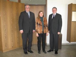 Claudia Felden und Bernd Lang im Gespräch mit Oberbürgermeister Franz Schaidhammer